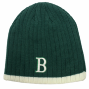 "Boston Winter Beanie - Green & White ""B"""