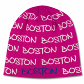 Boston Wrap Winter Beanie Pink