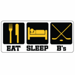 Eat Sleep B's Sticker