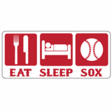 Eat Sleep Sox Sticker