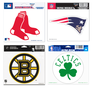 Four Team Ultra Decal Sox, Pats, Celts, B's