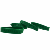 Green Rubber Wristband 4 Pack