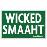 Green Wicked Smaaht Sticker