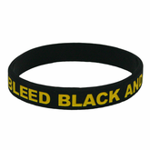 I Bleed Black and Gold Bracelet