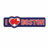 I Heart Boston Sticker