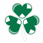 Irish Sox Hearts Shamrock Sticker