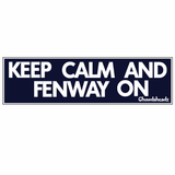 Keep Calm and Fenway On Sticker
