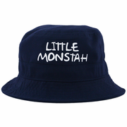 Little Monstah Infant/Toddler Bucket Hat Navy