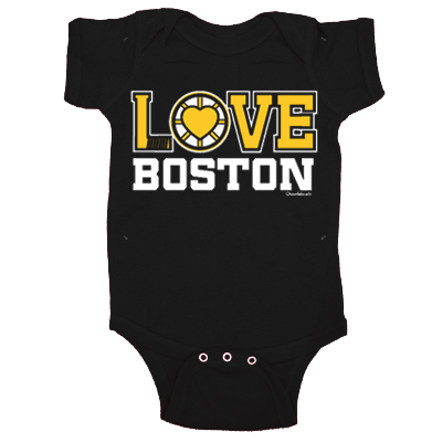 Love Boston Black and Gold One Piece
