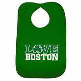 Love Boston Shamrock Bib