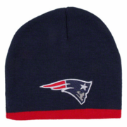 NE Patriots Navy Winter Beanie with Red Stripe