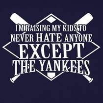 Never Hate Anyone Except The Yankees Anti-Yankee T-Shirt