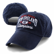 New England Football Champs Washed Navy Cap