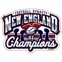 New England Football Champs Dynasty Sticker