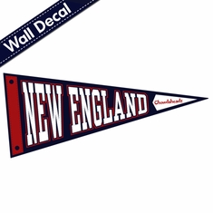 New England Football Fan Pennant Wall Decal
