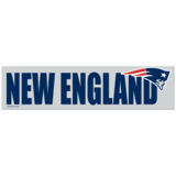 New England Patriots 3x12 Bumper Sticker