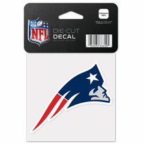 New England Patriots 4x4 Die Cut Sticker