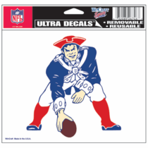New England Patriots 5x6 Old School Ultra Decal