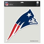 "New England Patriots 8x8"" Die Cut Sticker"