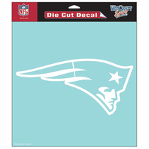 New England Patriots 8x8 Die Cut Window Sticker