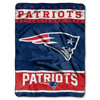 New England Patriots Blanket BIG 60x80 Super Plush Throw