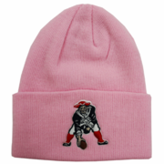 New England Patriots Pink Cuffed Winter Hat