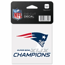 New England Patriots Superbowl Champs 4x4 Die Cut Sticker