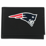 New England Patriots Leather Tri-Fold Wallet