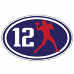 Number 12 Oval Sticker