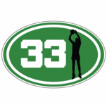 Number 33 Oval Sticker