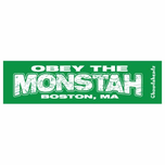 Obey The Monstah Bumper Sticker