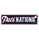Pats Nation Bumper Sticker
