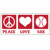 Peace Love Sox Sticker