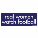 Real Women Watch Football Sticker