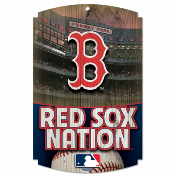 Red Sox Nation 11x17 Sign, Harboard Wood Finish Sign