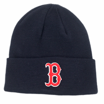 "Red Sox Navy Winter Cuffed Hat (Red ""B"")"