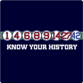 Retired Numbers Know Your History T-Shirt