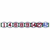 Retired Numbers Sticker
