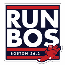 Run Bos, Boston Marathon Sticker