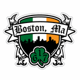 Shamrock Coat Of Arms Sticker
