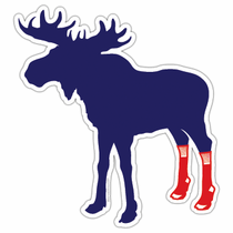 Socks On Moose Sticker