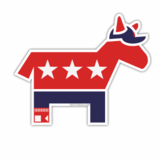 Sox Democrat Sticker