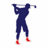 Sox Fan Golfer Sticker