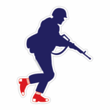 Sox Fan Military Male Sticker