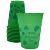 St. Paddy's Day Plastic Cups (12 Pack)