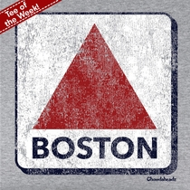 T-Shirt Of The Week Distressed Boston Sign, Ships Right Away
