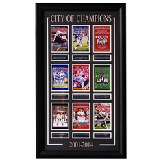 City Of Champions 2001-2014 (Framed & Matted 21x35)