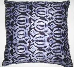 AW002 African wax printed cotton pillow cover