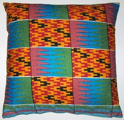 AW19 Unfinished cotton African wax print pillow