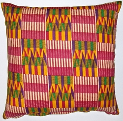 AW20 Untreated cotton African wax printed pillow cover